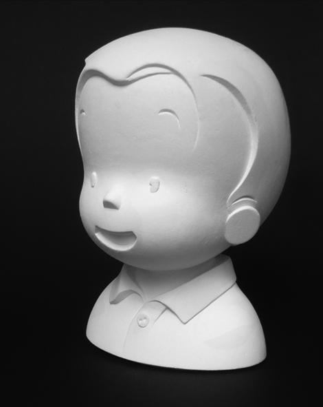 Zoé et Théo, figurine en plâtre de Théo