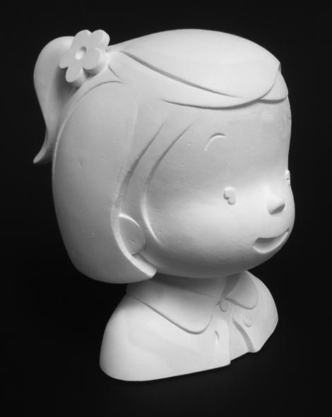 Zoé et Théo, figurine en plâtre de Zoé