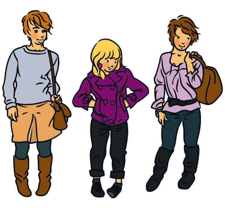 Illustration de personnages style BD ligne claire 2