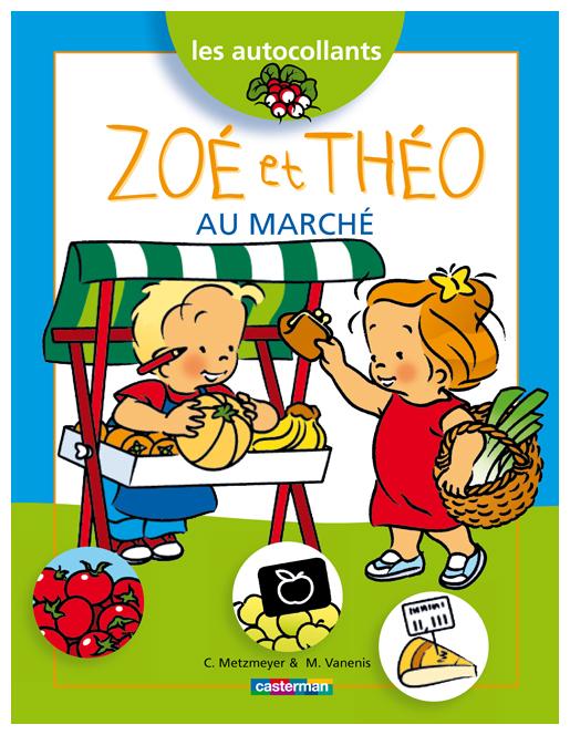 Zoé et Théo au marché