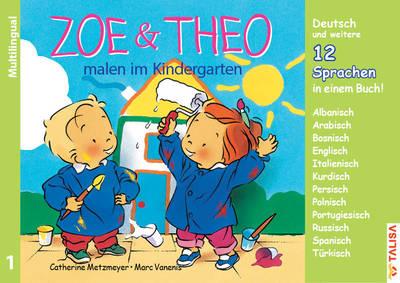 Zoe und Theo malen im Kindergaten-versions multilingues de Zoé et Théo