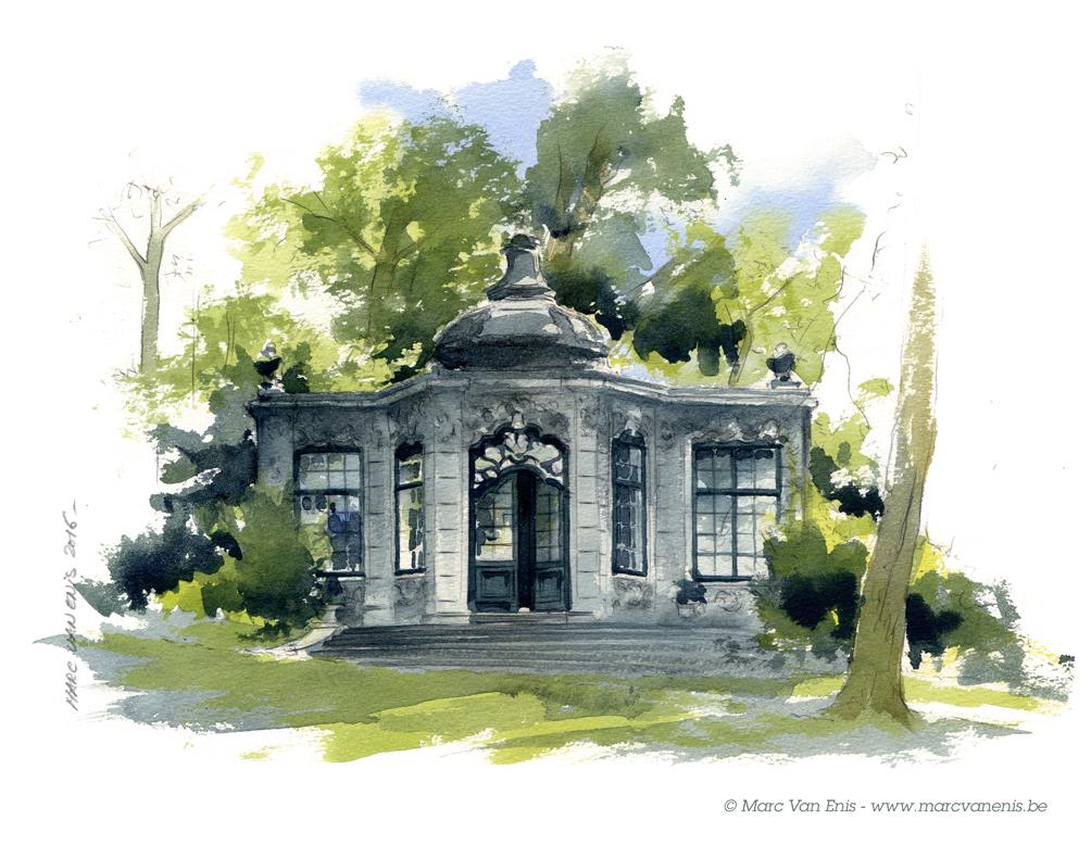 Carrousel aquarelles illustrations marc van enis for Aquarelle maison