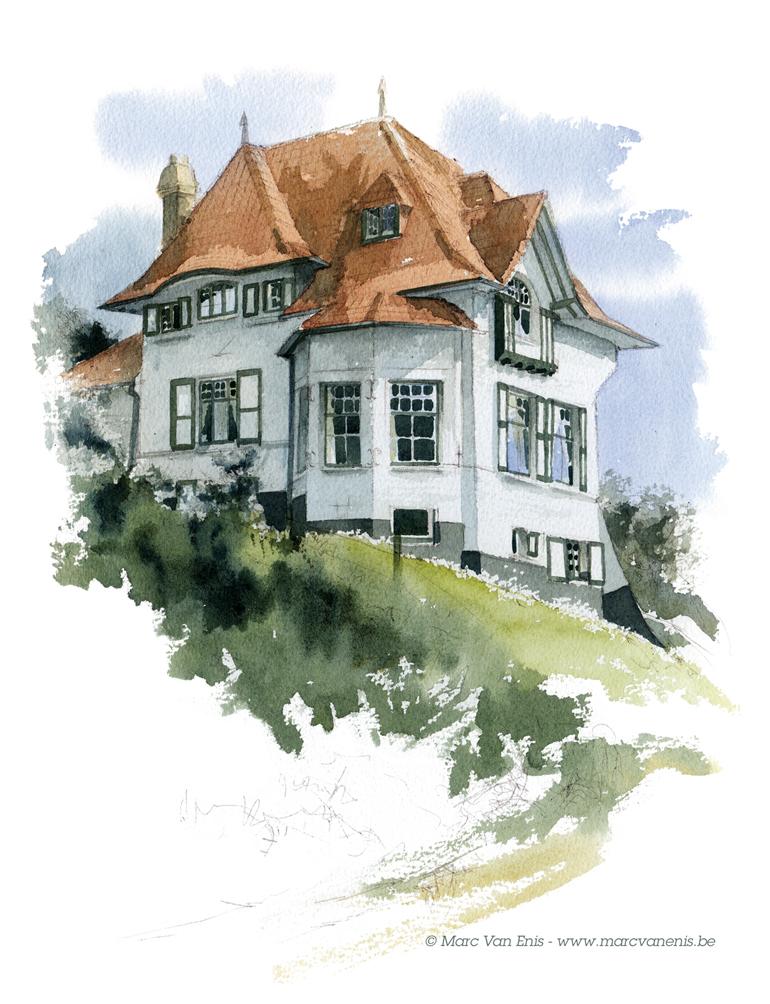 Aquarelles de Villas et de maisons particulières