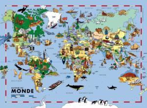 carte du monde pour enfants-poster mural
