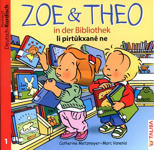Zoe und Theo-in der Bibliothek/Deutsch-Kurdisch