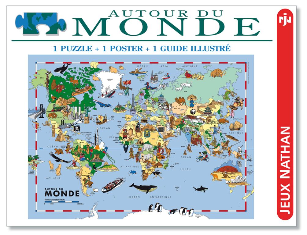 puzzle du Monde-carte du Monde (Packaging)