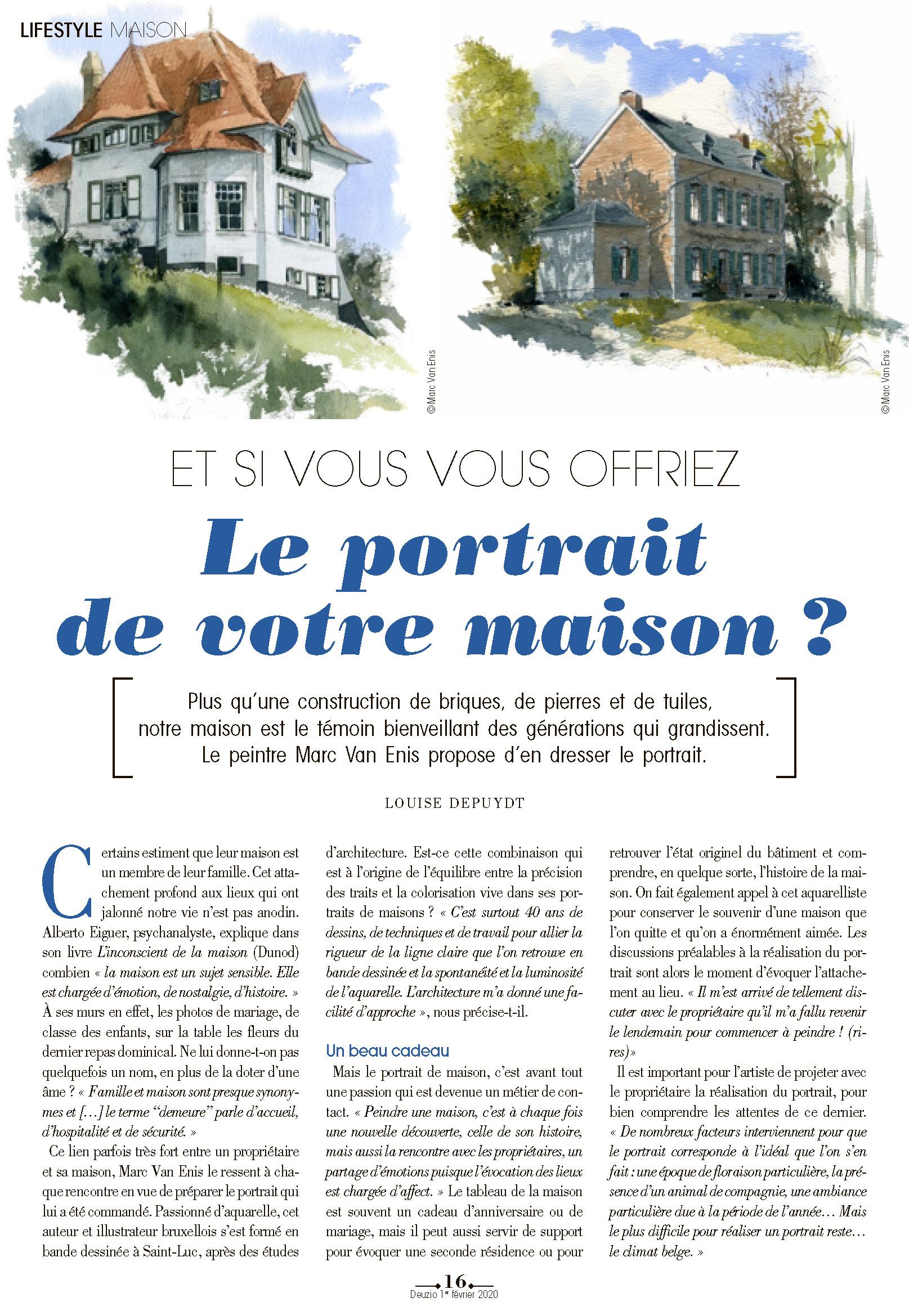 Portrait de maison : votre maison à l'aquarelle